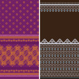 Indian Sari Borders Stock Photos