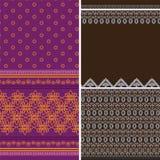 Indian Sari Borders. Indian Textile- Sari Design Stock Photos