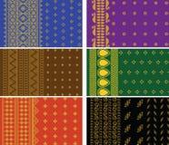 Indian Sari Borders. Indian Textile- Sari Design Royalty Free Stock Photos