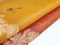 Indian sari cloth isolated Stock Image