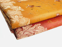 Indian sari cloth isolated Stock Images