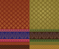 Indian Sari Design. Easily  and elaborate Royalty Free Stock Images