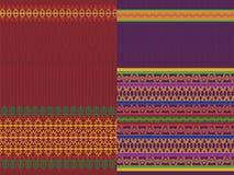 Indian Sari Design. Indian textile art inspired Sari Design Stock Images