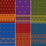 Indian Sari Design. Indian textile art inspired Sari Design Stock Photo