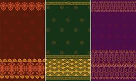 Indian Sari Design. Indian textile art inspired Sari Design Royalty Free Stock Image
