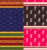 Indian Sari Design. Easily  and elaborate Royalty Free Stock Photos
