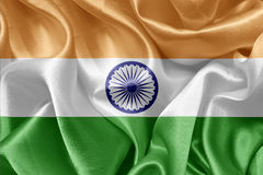 Indian satin flag. Background canvas stock photo