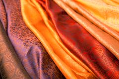 Indian scarves Royalty Free Stock Photos