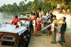 Indian school boat Royalty Free Stock Images