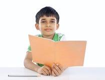 Indian School Boy Posing to Camera Royalty Free Stock Image
