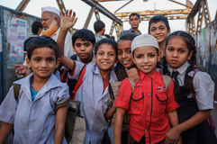 Indian school boys and girls Royalty Free Stock Photos