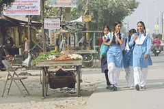 Indian school children stock photography