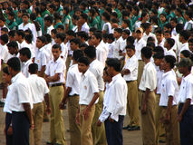Indian School Children. Gathered on a ground for a function Royalty Free Stock Photos