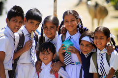 Indian school children Stock Photo