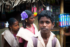 Indian school children. India, Tamil Nadu, Thanjavur (Trichy) Royalty Free Stock Photo