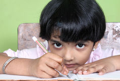 Indian School Girl Stock Photography