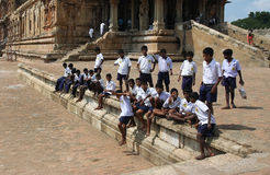 Indian schoolboys Royalty Free Stock Photo