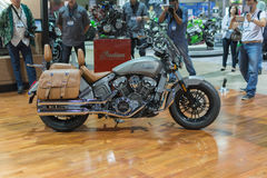 Indian Scout 2015 motorcycle Royalty Free Stock Photo
