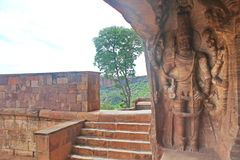 Indian scultpure art at Badami Cave temples, Karnataka, India Royalty Free Stock Photography