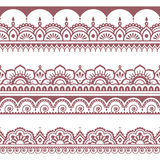 Indian seamless brown pattern, design elements - Mehndi tattoo style Royalty Free Stock Image
