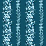 Indian seamless ornament. Vertical stripes with indian ornament Stock Images