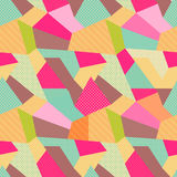 Indian Seamless Patchwork Pattern. Royalty Free Stock Image