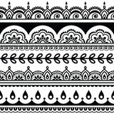 Indian seamless pattern, design elements - Mehndi tattoo style Stock Image