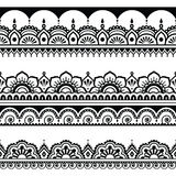 Indian seamless pattern, design elements - Mehndi tattoo style Stock Photos