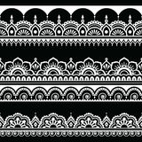 Indian seamless pattern, design elements - Mehndi tattoo style Royalty Free Stock Photography
