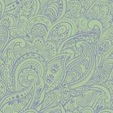 Indian seamless pattern. Green backdrop indian seamless pattern Stock Image