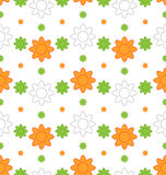 Indian Seamless Wallpaper in Traditional Tricolor. Illustration Indian Seamless Wallpaper in Traditional Tricolor of Flag for National Holidays - Vector Stock Photos