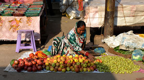 Indian Sell Fruit Royalty Free Stock Photos