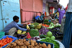 Indian Sell Vegetable Royalty Free Stock Photography