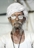 Indian senior citizen Stock Photo