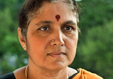 Indian Senior Woman Stock Photography