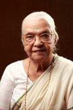 Indian senior woman stock photo