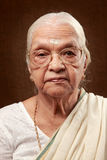 Indian senior woman Royalty Free Stock Photography