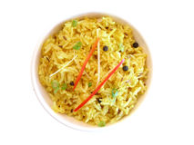 Indian series. Series of indian dishes - yellow rice dish Royalty Free Stock Images
