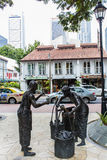 Indian Settlers sculpture in Singapore Royalty Free Stock Photography