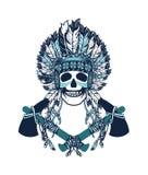 Indian shaman totem Stock Photos