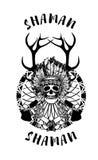 Indian shaman totem Stock Photography