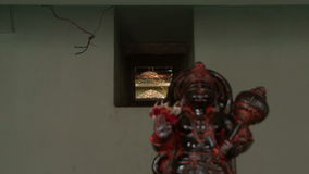 Indian Shiva temple stock video footage