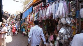 Indian Shop for Disposable Items Royalty Free Stock Images