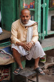 Indian shopkeeper. Delhi, India. Stock Photos
