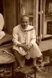 Indian shopkeeper. Delhi, India. Royalty Free Stock Photography