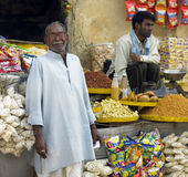 Indian Shopkeeper - Jaipur - India. An Indian Shopkeeper in Jaipur in Rajasthan in western India Stock Photography