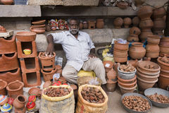 Indian Shopkeeper - Thanjavur - India Stock Photography