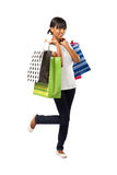 Indian shopping girl Stock Image