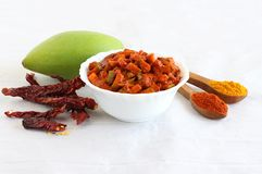 Indian Side Dish Mango Pickles Stock Photography