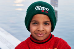 Indian Sikh boy in Golden Temple. Amritsar. India Royalty Free Stock Photography